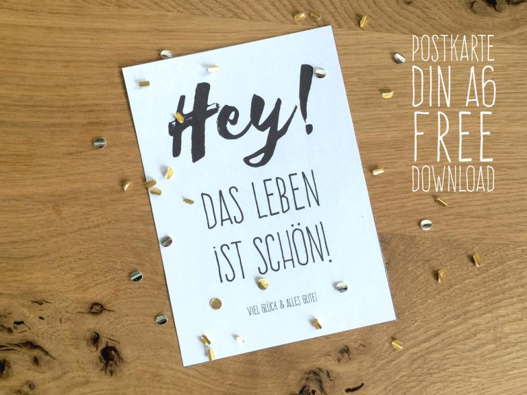 DIN A6 Postkarte free Download
