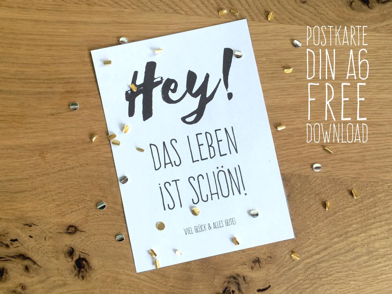 DIN A6 Postkarte free Download
