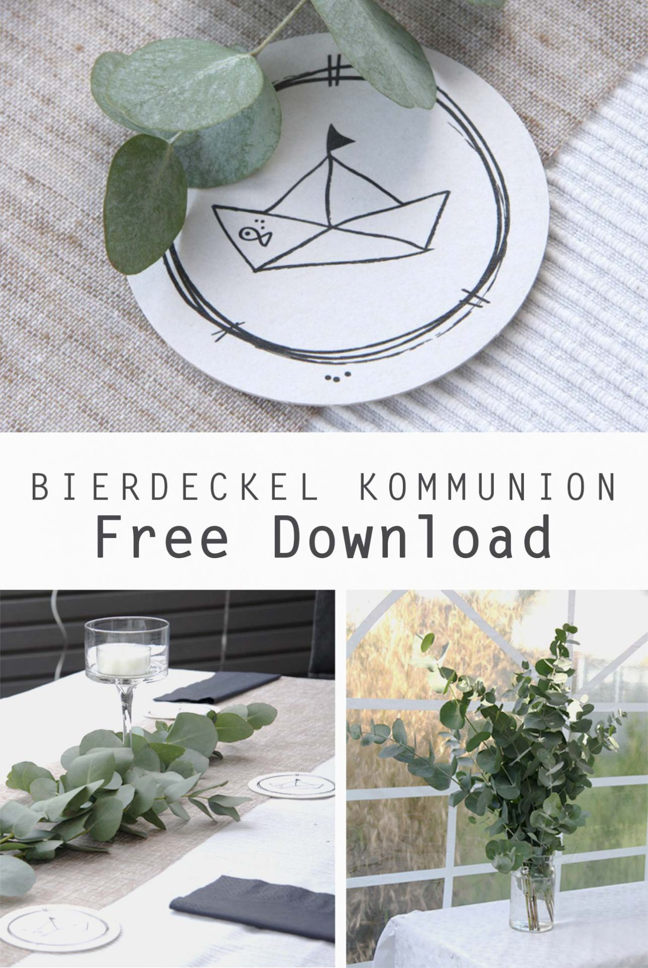 Kinderkommunion Bierdeckel free Download